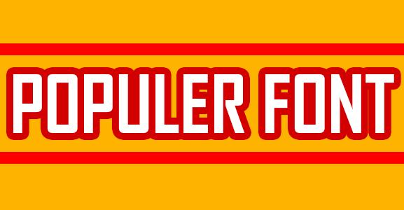 Font Populer - Bursanom.com